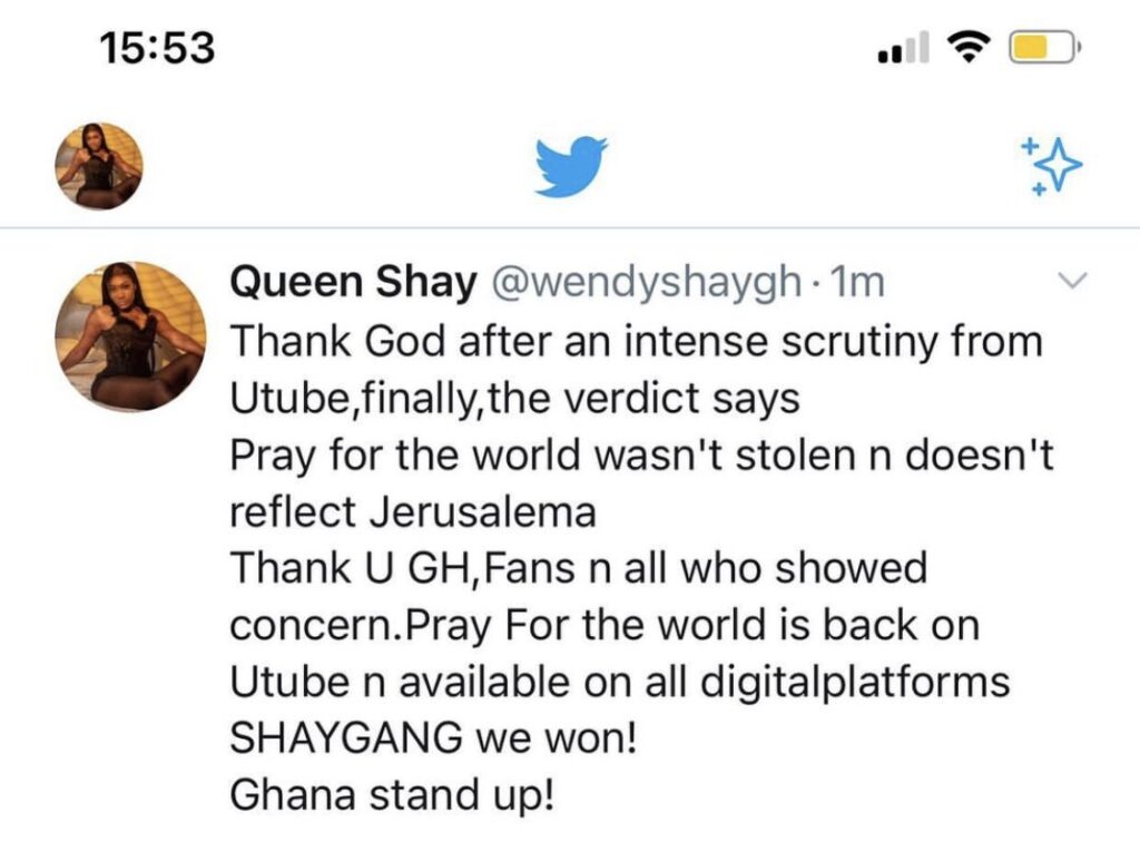 Wendy Shay's post