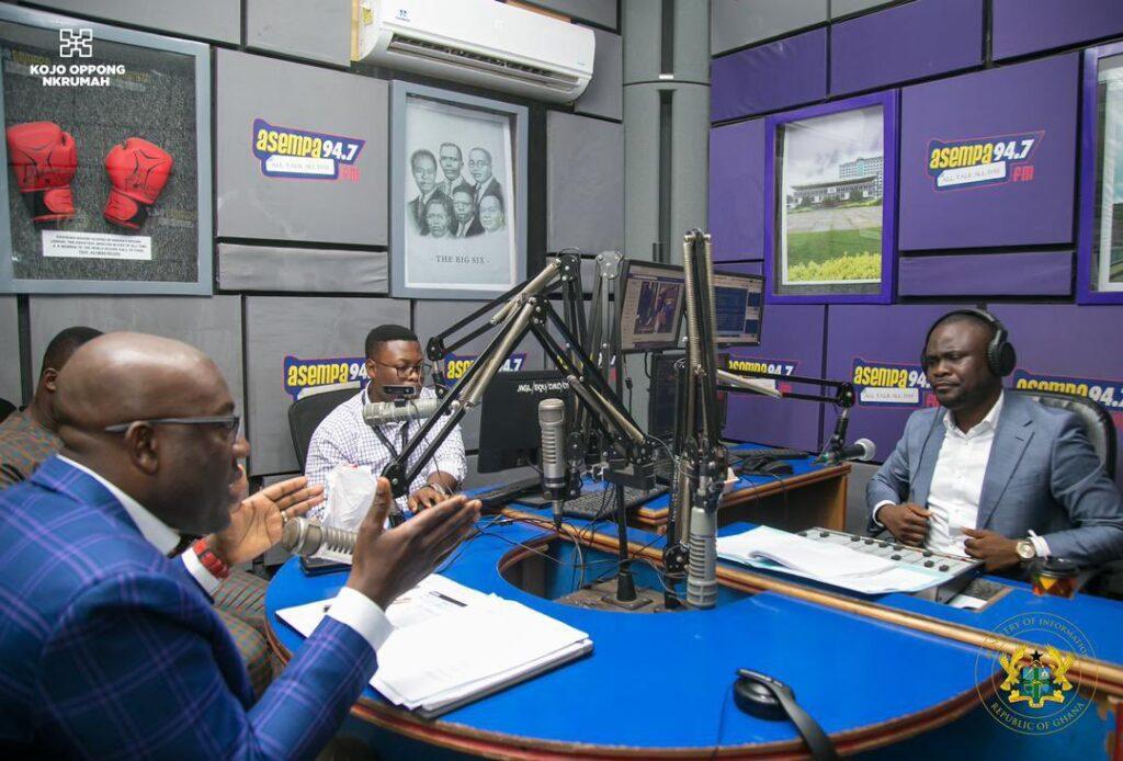 Kojo Oppong Nkrumah at Asempa FM