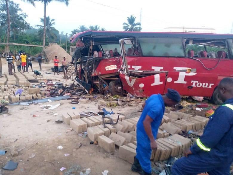 VIP bus crush at Akyem Asafo