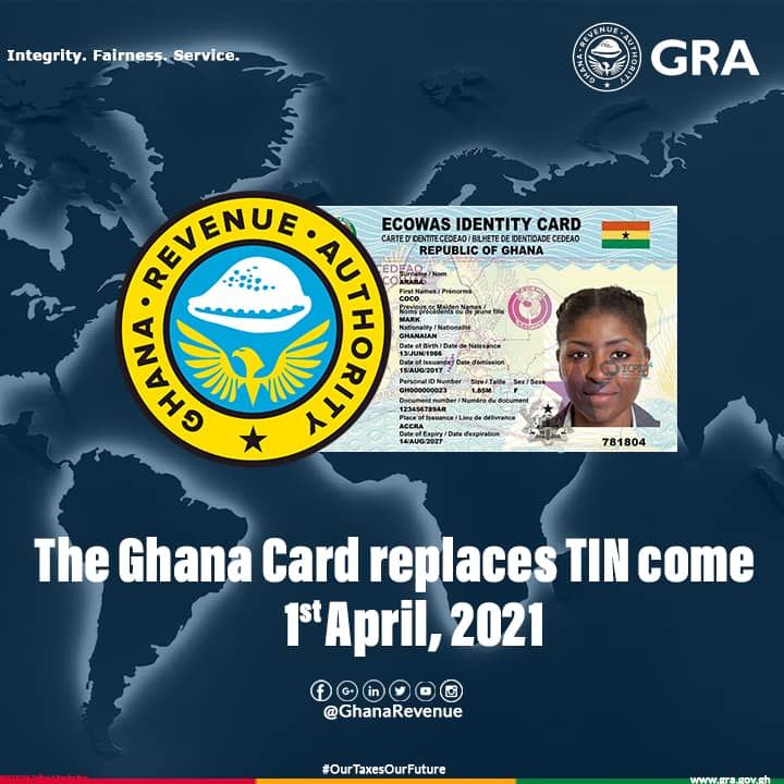 Ghana Card to Replace TIN in April 2021