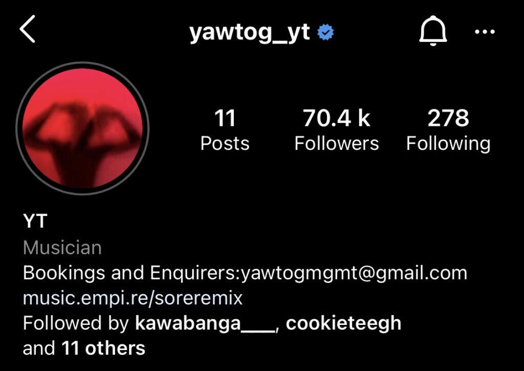 Yaw Tog verified
