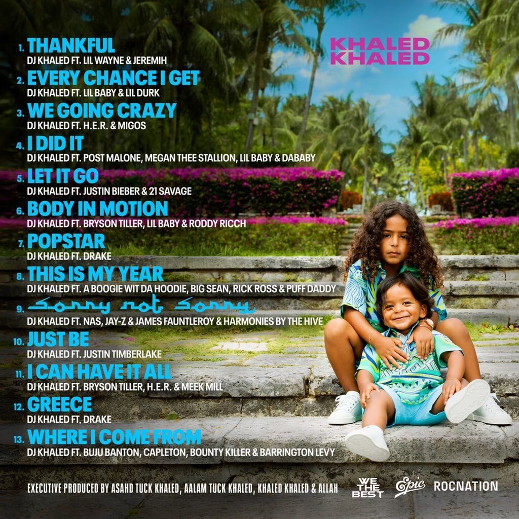 "release of ""Khaled Khaled Album"""
