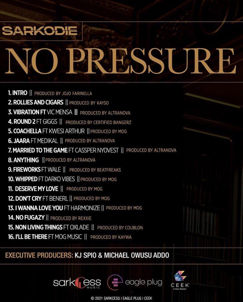 List of songs on No Pressure album