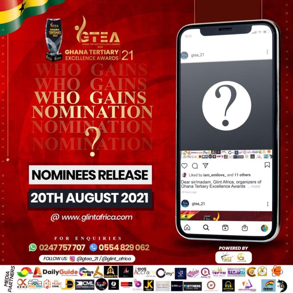 Ghana tertiary awards nominee announcement