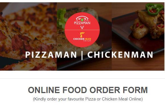 Pizzaman Order Form