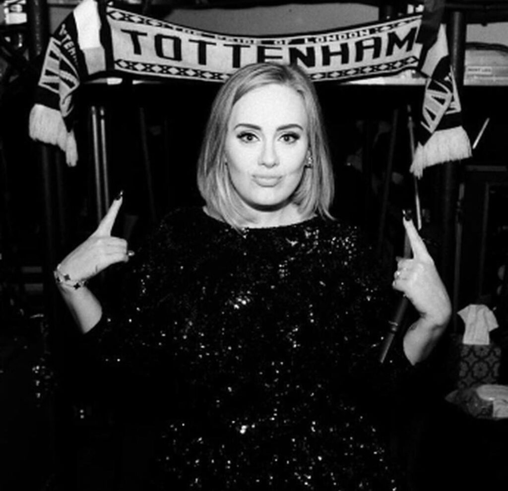 Adele weight black and whit